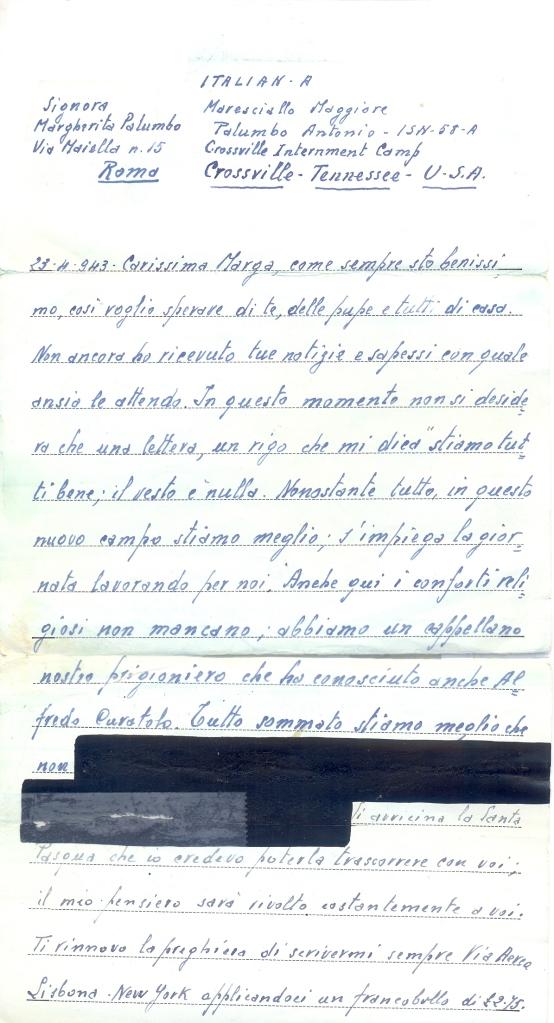 lettera 1- 23.4.1943