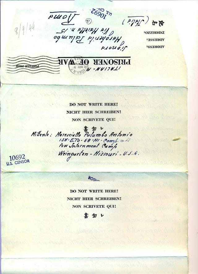 Lettera 4 indirizzo