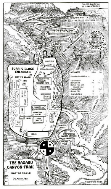 map-of-havasu-falls-canyon