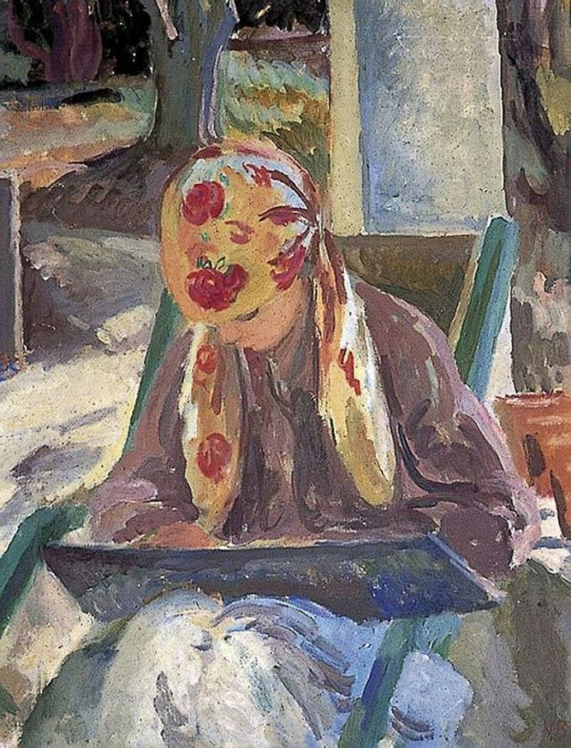 A Girl Reading (c.1932). Vanessa Bell