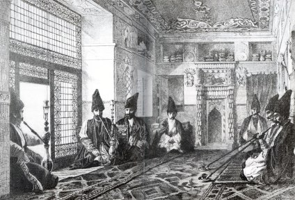 Hall in the house of a Tatar in Shusha, Louis Figuier, 1873
